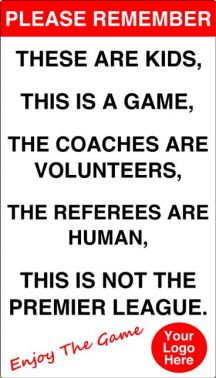 Respect Football Players And Referees Plastic Wall Sign