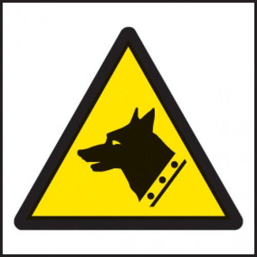 Guard Dog Symbol Sign Self Adhesive Vinyl 200 X 200mm