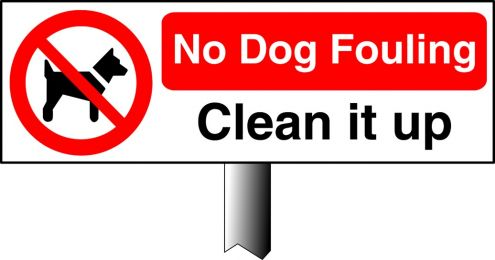 No Dog Fouling Clean It Up Verge Sign Safety Signs