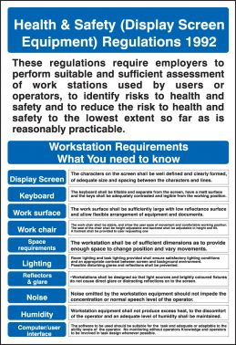 Display Screen Equipment Regulations Poster 400x600mm
