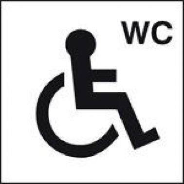 Disabled Toilet Sign Self Adhesive Vinyl 200 X 200mm 7026 on Fire Safety Week