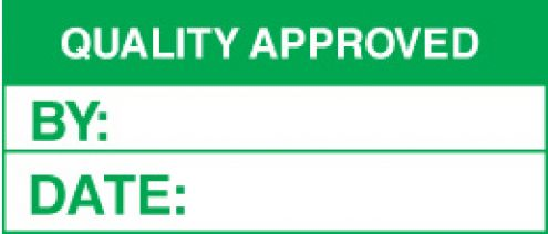 Quality Control QUALITY APPROVED Labels (59754) : Safety ...