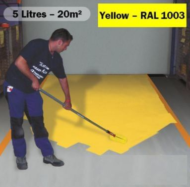 Anti Slip Paint 5 Litres Yellow Ral 1003 Floor
