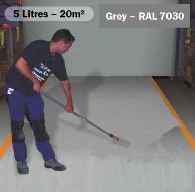 Anti Slip Paint 5 Litres Stone Grey Ral 7030 Floor