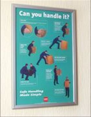 Poster Frame 510x760mm : Safety Signs - Security Safety ...