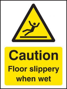 Caution Floor Slippery When Wet Sign S A Vinyl 75x100mm