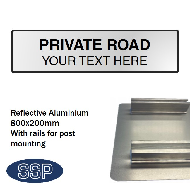 Create Your Own Private Road Sign Reflective Aluminium