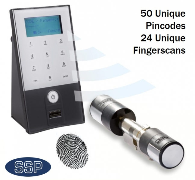 Ssp Upvc Biometric And Code Door Entry System