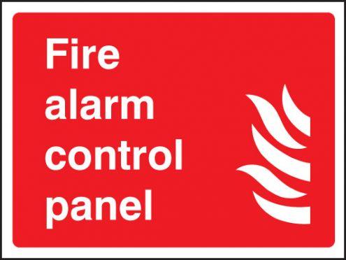 Fire Alarm Control Panel Sign Rigid Plastic 150 X 200mm