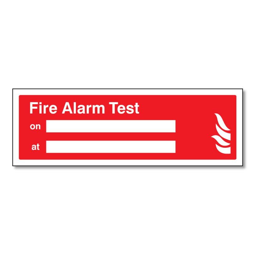 Fire Alarm Test On / At Sign Rigid Plastic 300 x 100mm (1040 ...