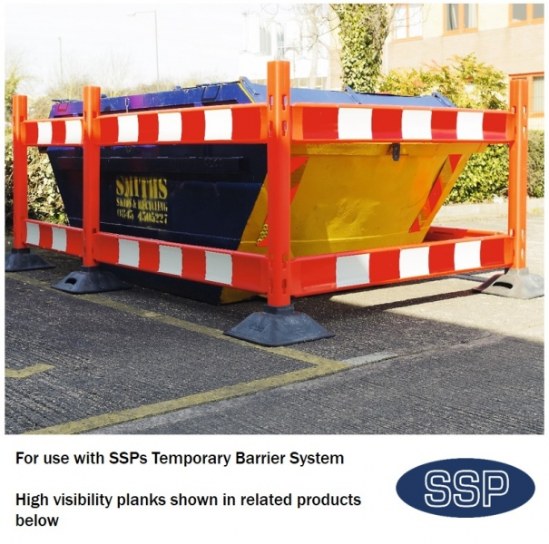 Ssp temporary construction site safety reflective barrier