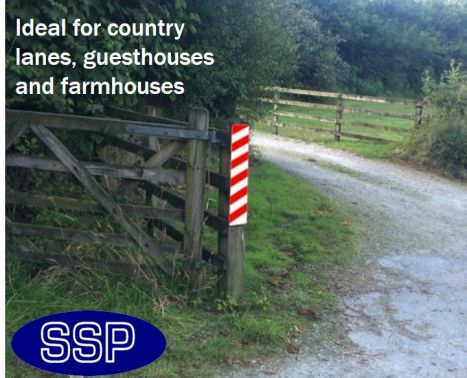 Gate Post And Fence Prismatic Reflective Marker Sign