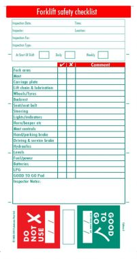 Inspection Checklist Form In Addition Safety Inspection Checklist ...