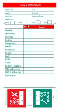 Harness Safety Inspection Check Book