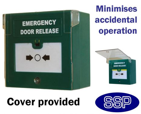 Ssp Green Emergency Door Release Button Double Pole With