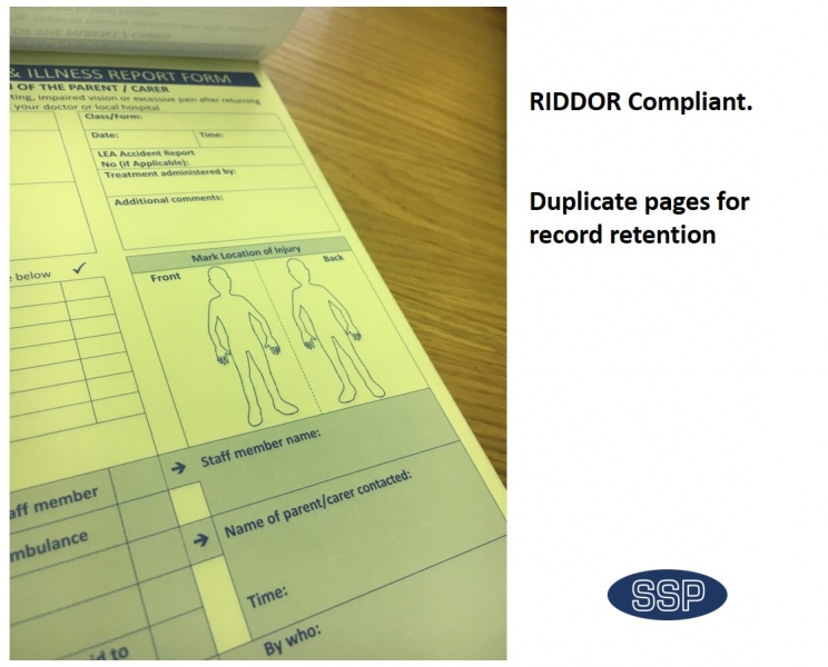accident report book for schools