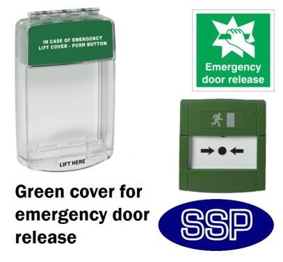 Door Release Break Glass Button Cover With Alarm And Break