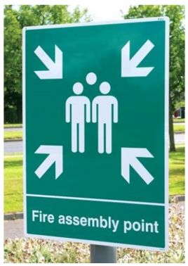 Fire Assembly Point Sign 450x600mm Aluminium With