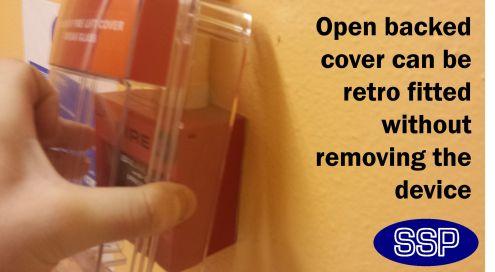 Door Release Break Glass Button Cover With Alarm And Break