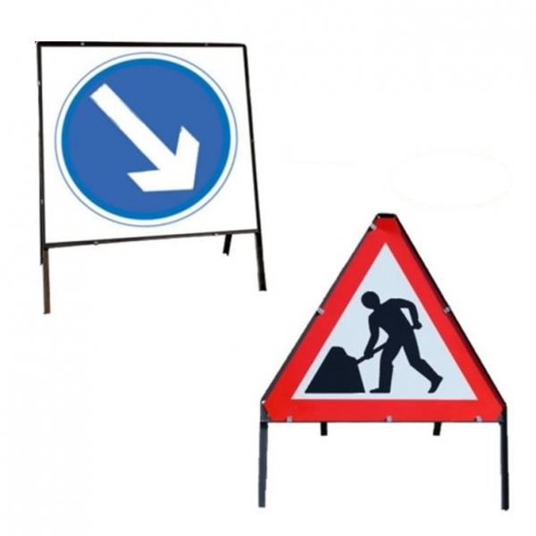 Temporary Picto Road Signs