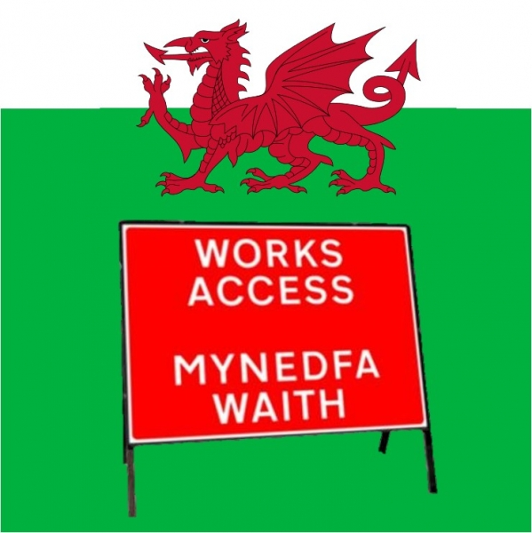 Welsh Bilingual Road Signs