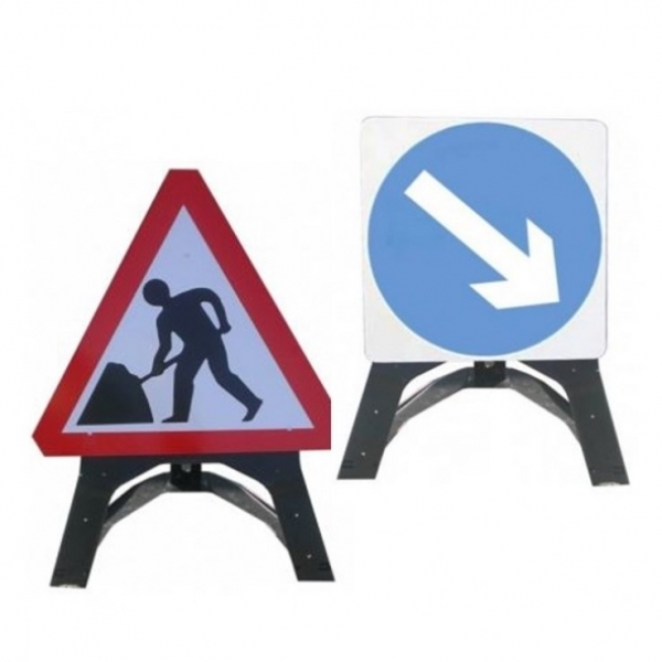 Temporary Plastic Road Works Signs
