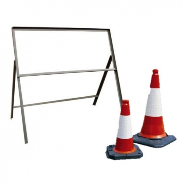 Road Sign Frames and Cones