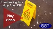 free standing floor signs from SSP