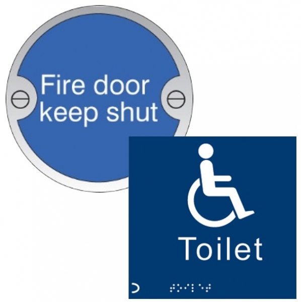 Aluminium, Brass and Braille signs