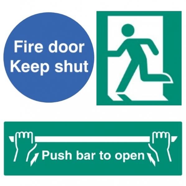 Fire Exit, Push Bar & Fire Door Signs