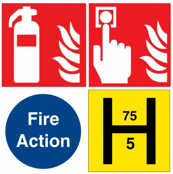 Fire Alarm, Extinguisher & Action Notices