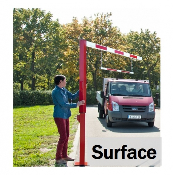 Pivoting Surface Height Restrictor Bars
