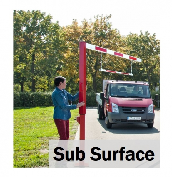 Pivoting Sub Surface Height Restrictor Bars