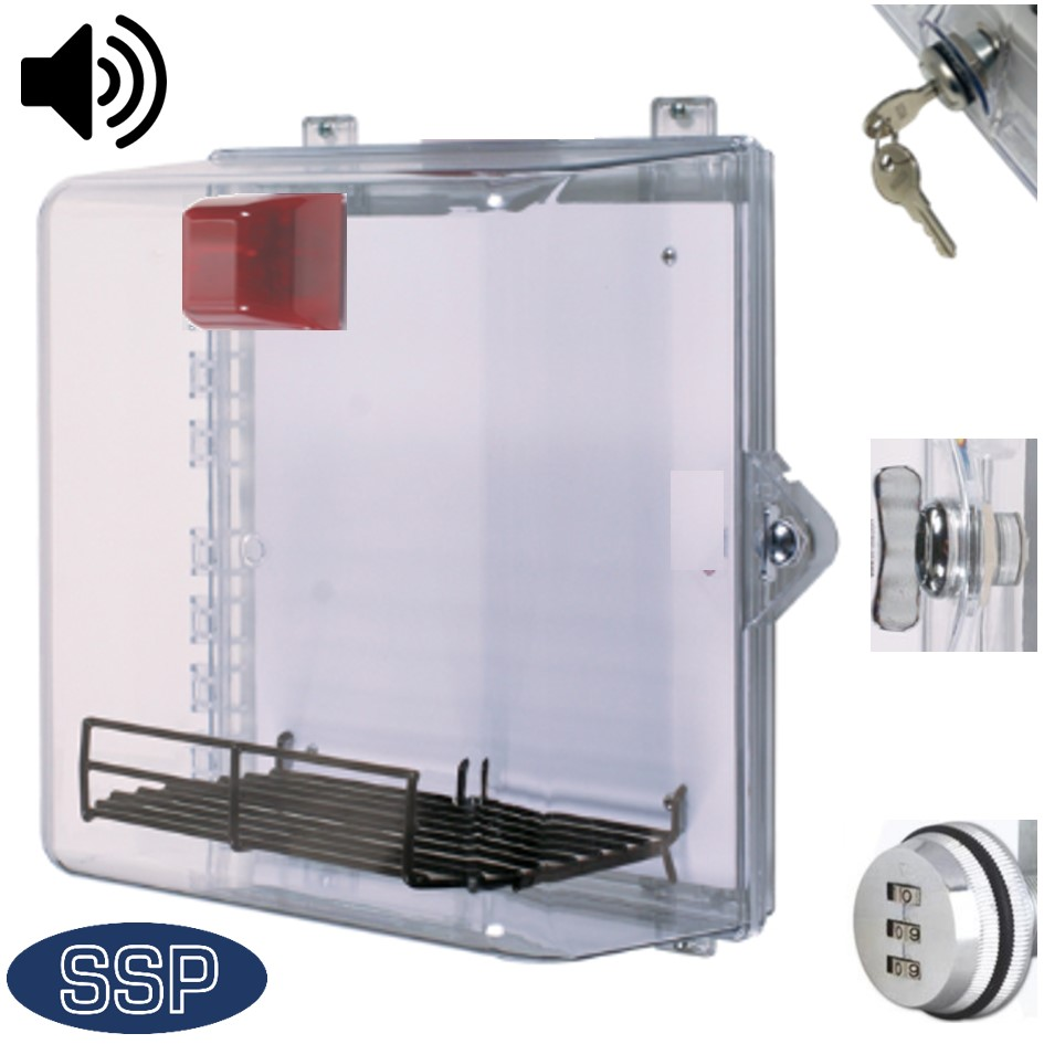 external aed cabinet.