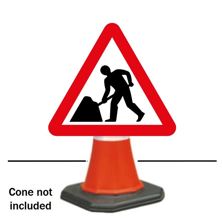 Men at work Cone Sign