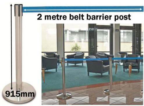 Belt Post | Retractable Belt Barrier Queue Management System