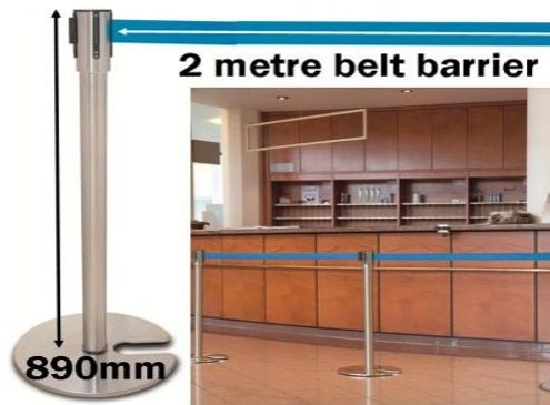 Easy-Stack Retractable Belt Post Barrier Queuing System