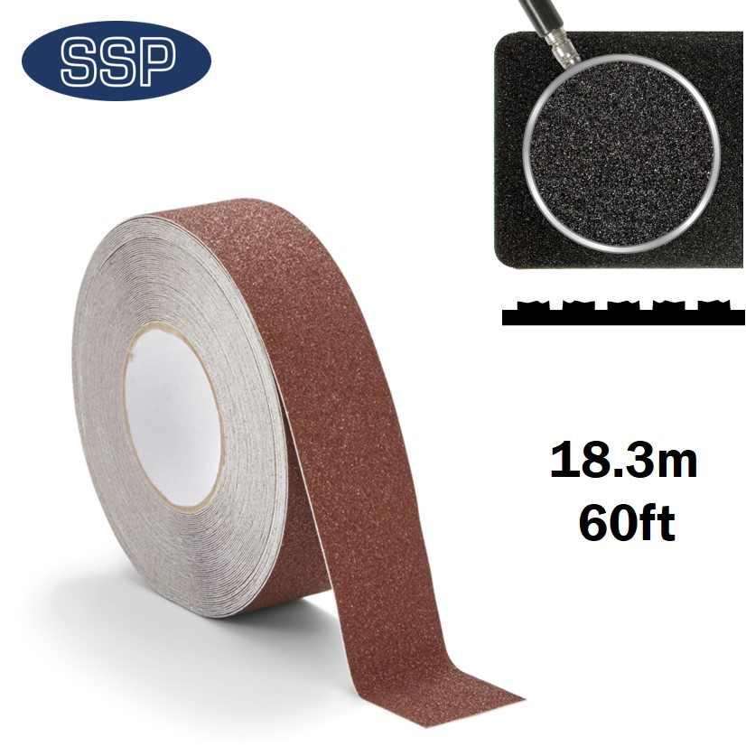 18 metre Long Brown Anti-Slip Tape for Floor, Steps and Decking
