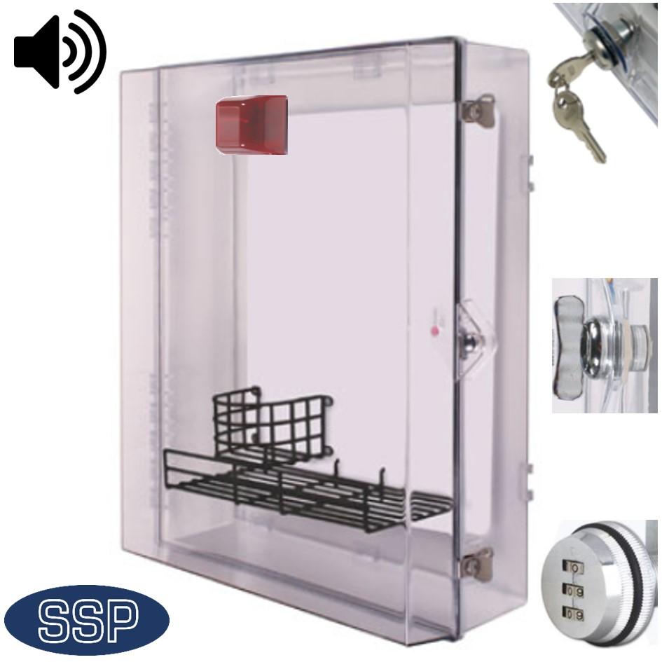 Weatherproof AED Defibrillator cabinet