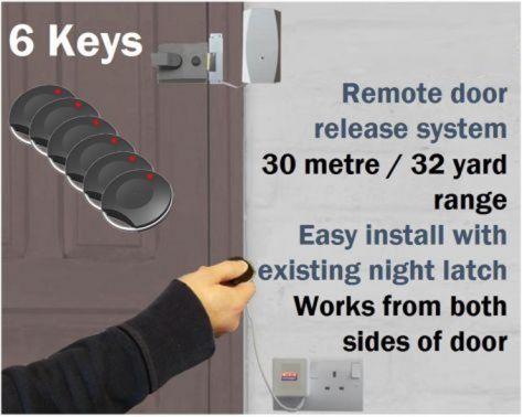 Remote Key Fob Door Entry System Domesticsmall Office 6 Key