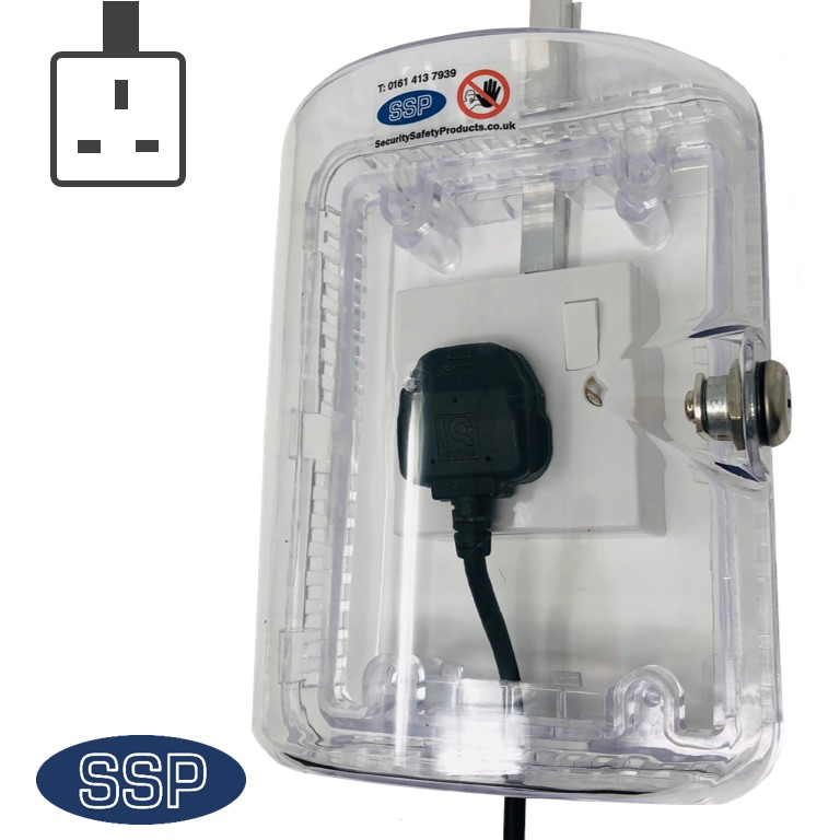 Clearstop Anti Tamper Locking Electrical Single Plug Socket Cover Dementia Care