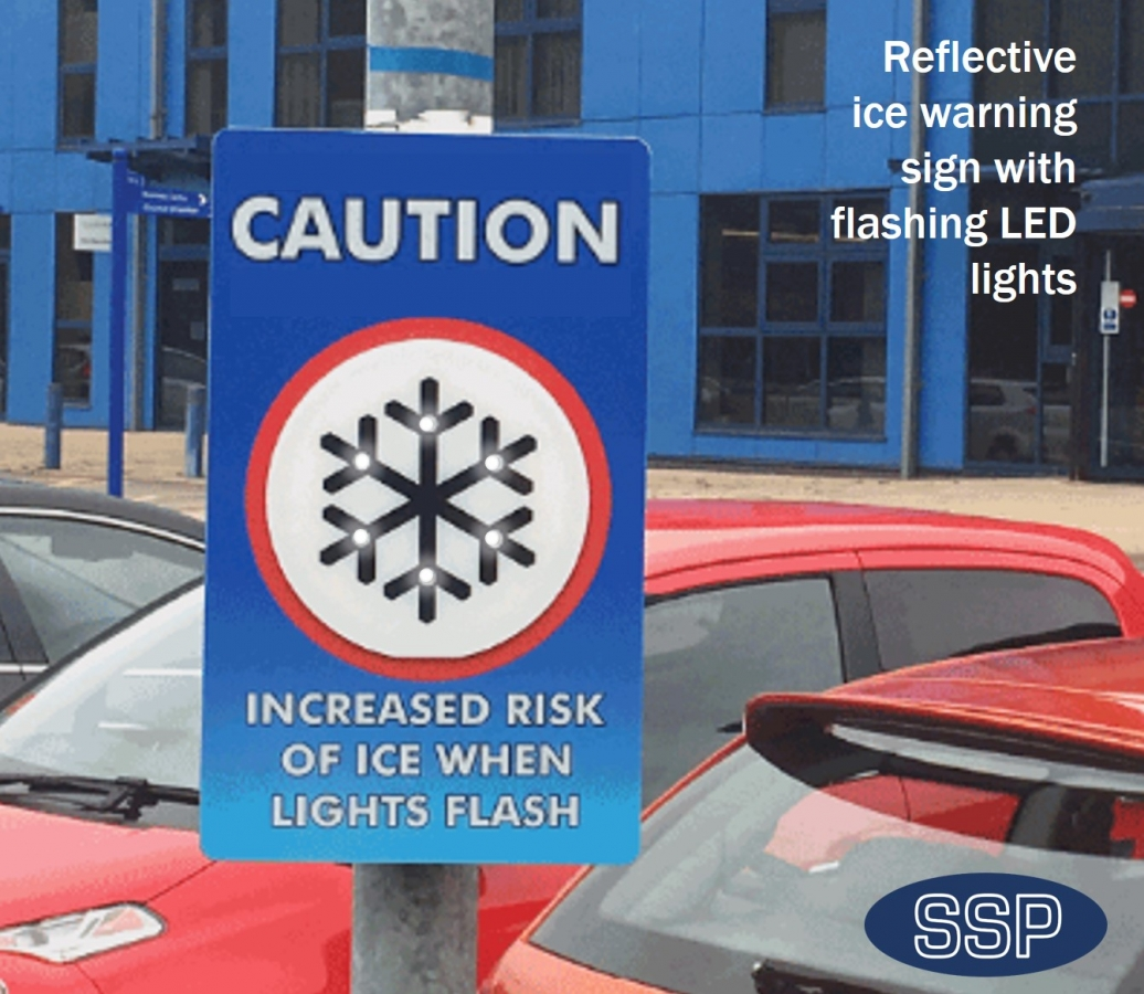Long Life Battery Powered Ice Detector And Warning Sign