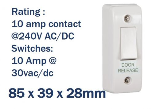Slim-line Light Switch Style Door Release Button | SSP Direct