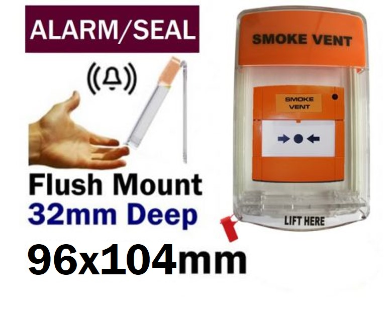 Aov Activation Call Point Cover With Extra Loud Sounder And Anti Tamper Seal Flush