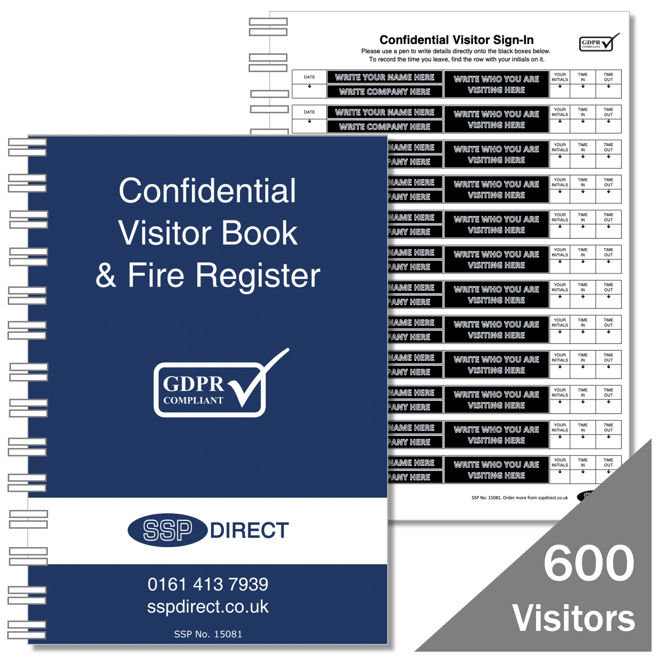GDPR Confidential Visitor Book