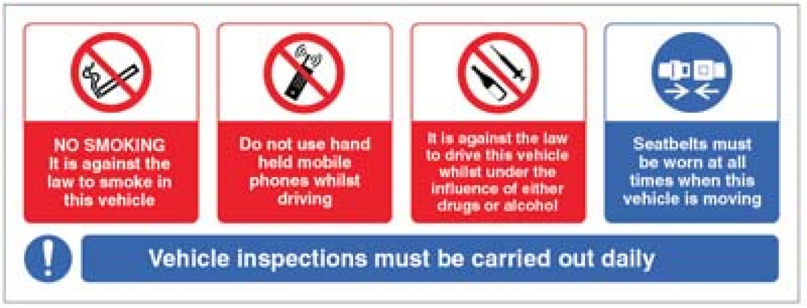 Vehicle Sticker No Smoking Mobile Phone Drink/drugs Wear