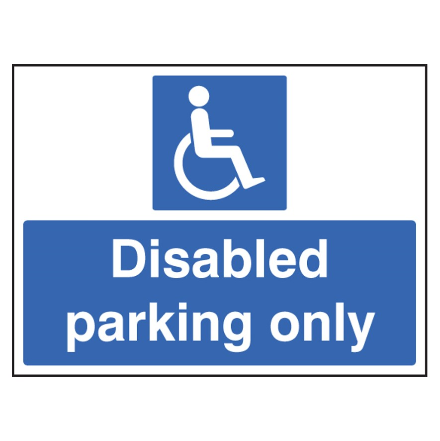 running shoes fresh styles another chance Disabled Parking Only Sign Aluminium 400 x 300mm(7606) | SSP ...