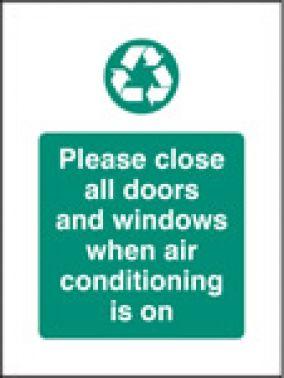Close Doors \u0026 Windows for Air Conditioning Sign Self Adhesive Vinyl 75mm x 100mm (6628 ...  sc 1 st  SSP Direct & Close Doors \u0026 Windows for Air Conditioning Sign Self Adhesive Vinyl ...
