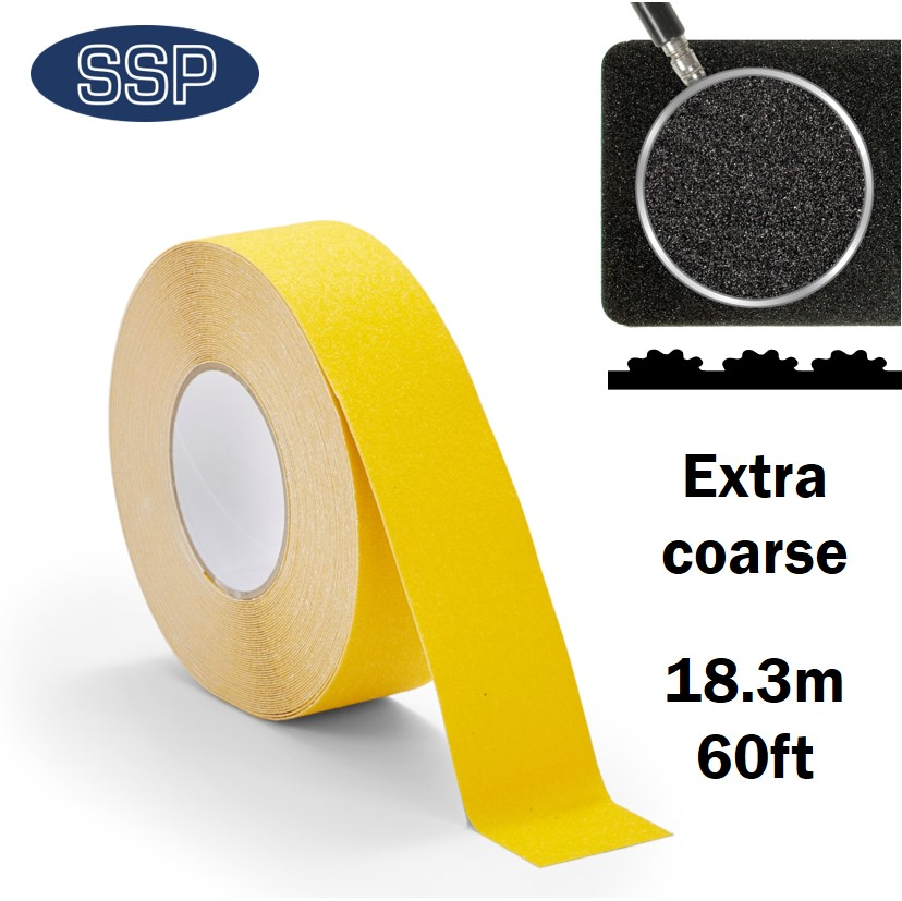 18metre Long Yellow Anti-Slip Tape for Floor, Stairs and Decking