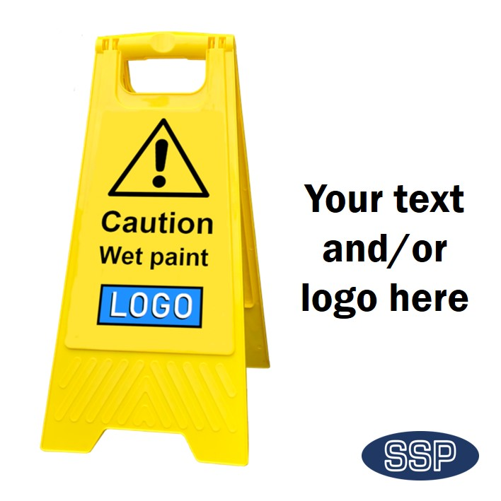 Personalised Wet Paint Folding Sign